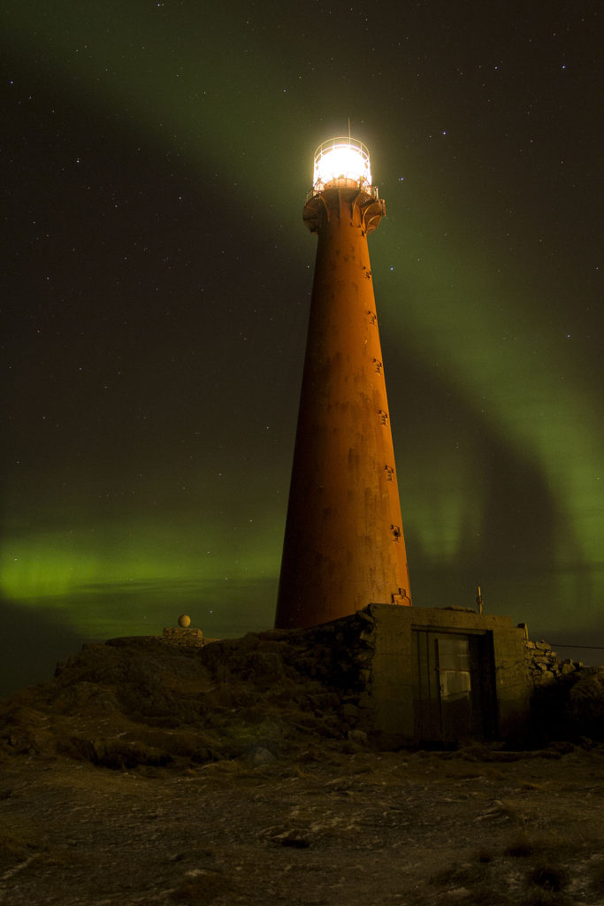 Lighthouse, Andenes Norway, northern lights, aurora noreais
