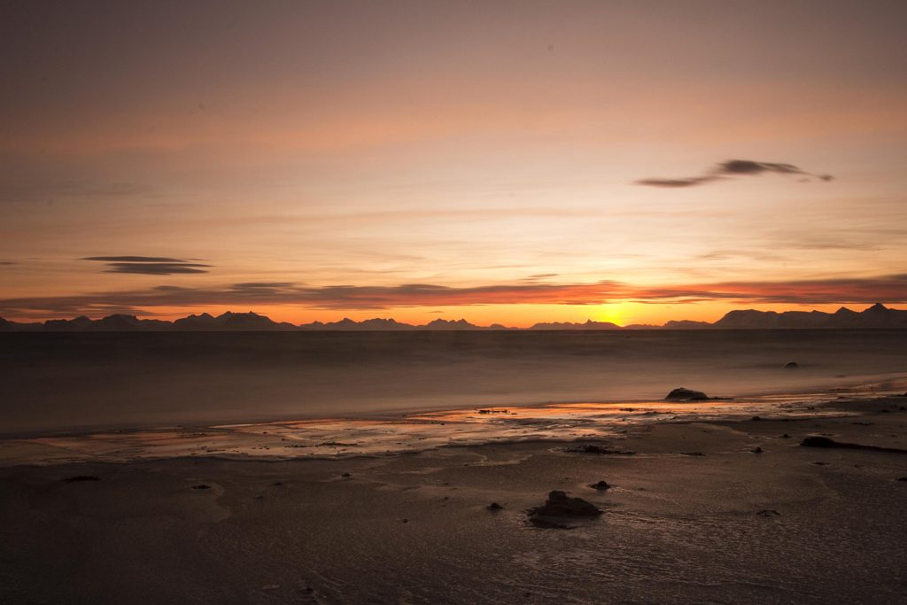 Norway, sunset, Andenes