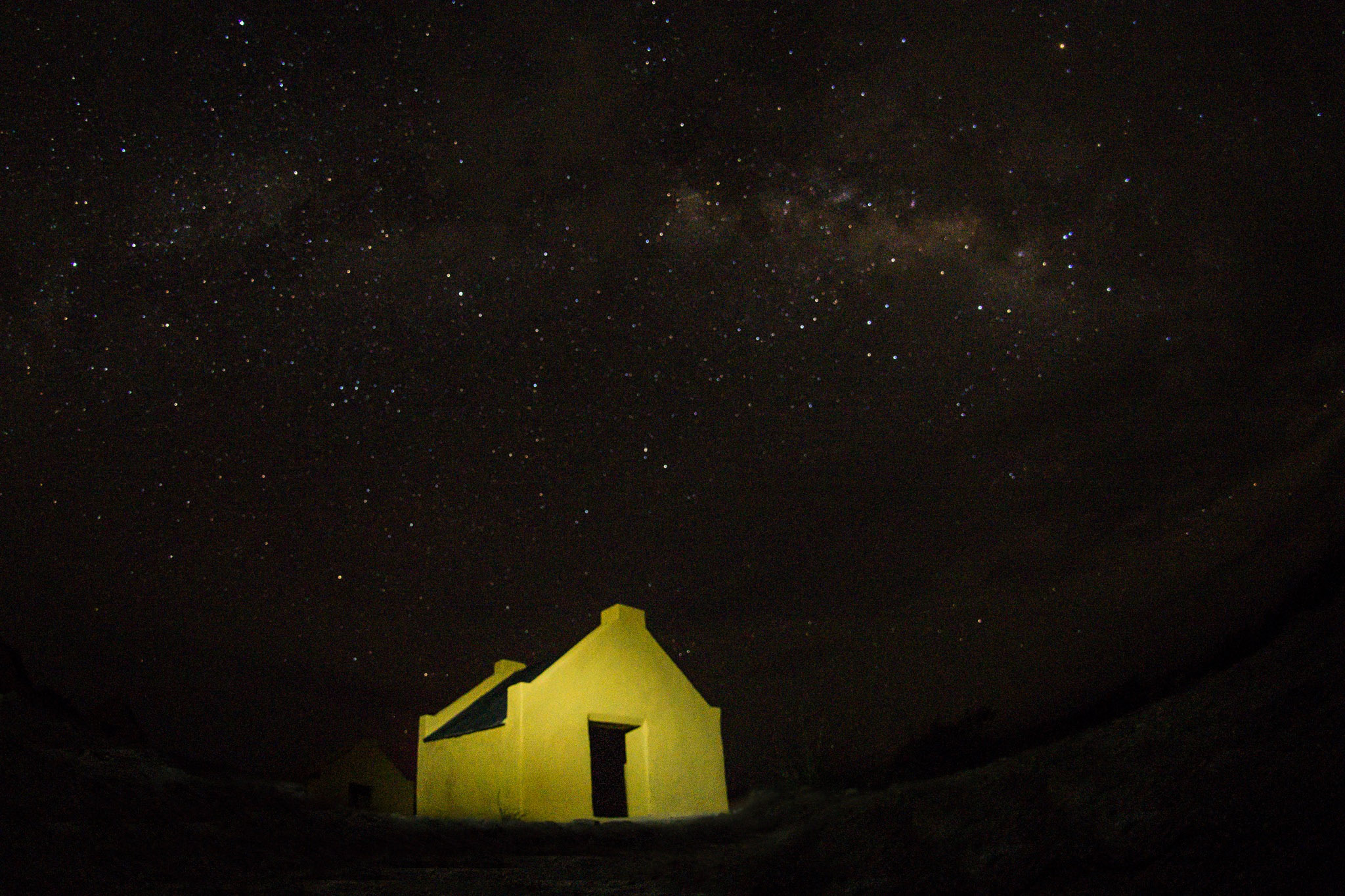 slavehuts, stars, Milky Way night photography