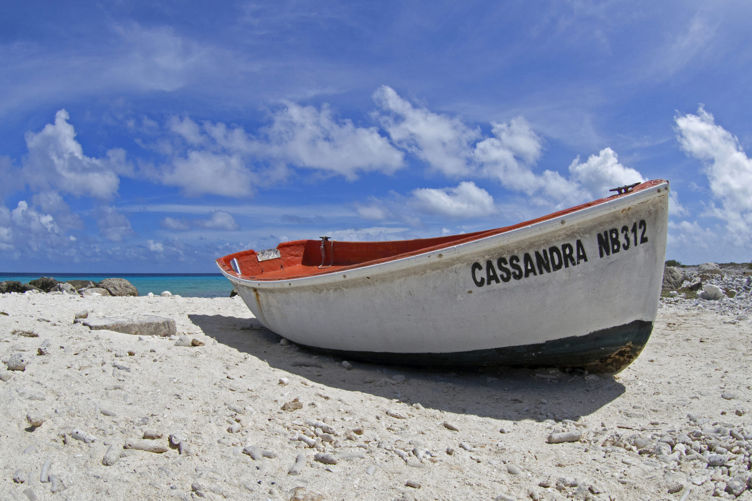 Local fisher boat on Bonaire